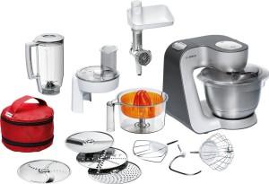 Teigknetmaschine Test - Testsieger Bosch MUM Küchenmaschine Styline MUM silber