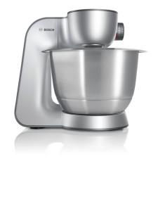 Teigknetmaschine 5 kg - Bosch MUM56S40 Küchenmaschine Styline MUM5 (900 Watt, 3.9 Liter) silber