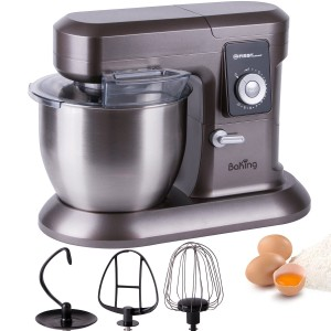 Küchenmaschine für Brotteig: 1200W Küchenmaschine mit 6,5 Liter Schüssel Rührgerät Knetmaschine Teigkneter