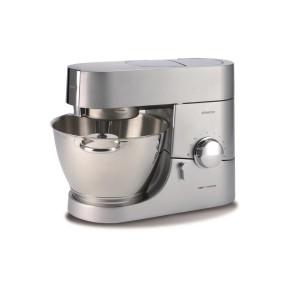 Teigmaschinen - Kenwood KMC Chef Titanium Küchenmaschine inklusive Glasmixaufsatz, Fleischwolf, Entsafteraufsatz